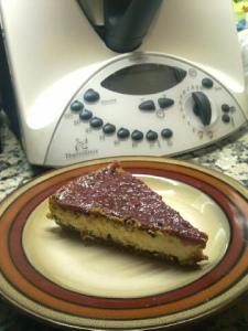 Tarta de queso mascarpone con mermelada de frambuesa. Thermomix 31