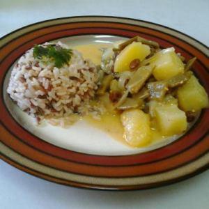 Judías verdes con salsa de yogur al estilo oriental