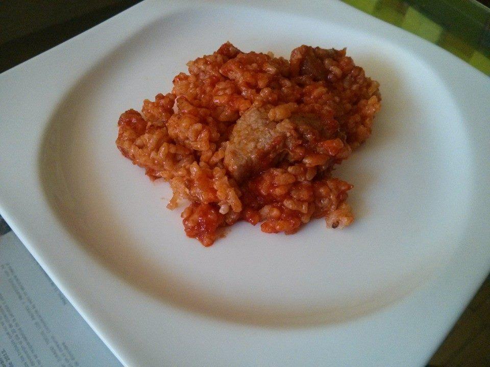 arroz con sobrasada