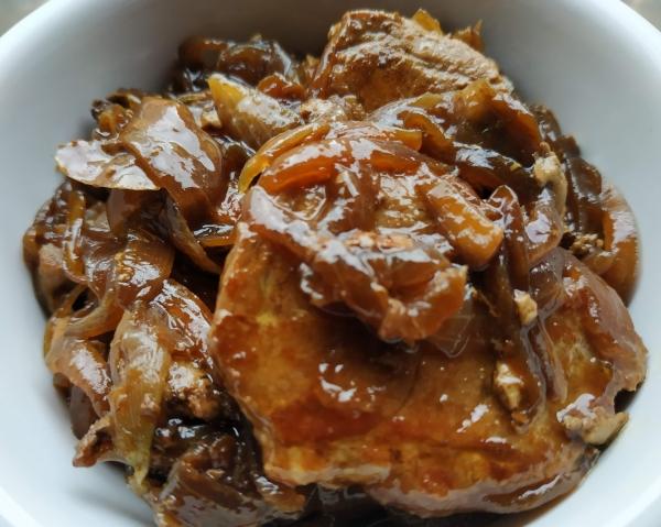 solomillo de cerdo con salsa teriyaki y pedro ximenez