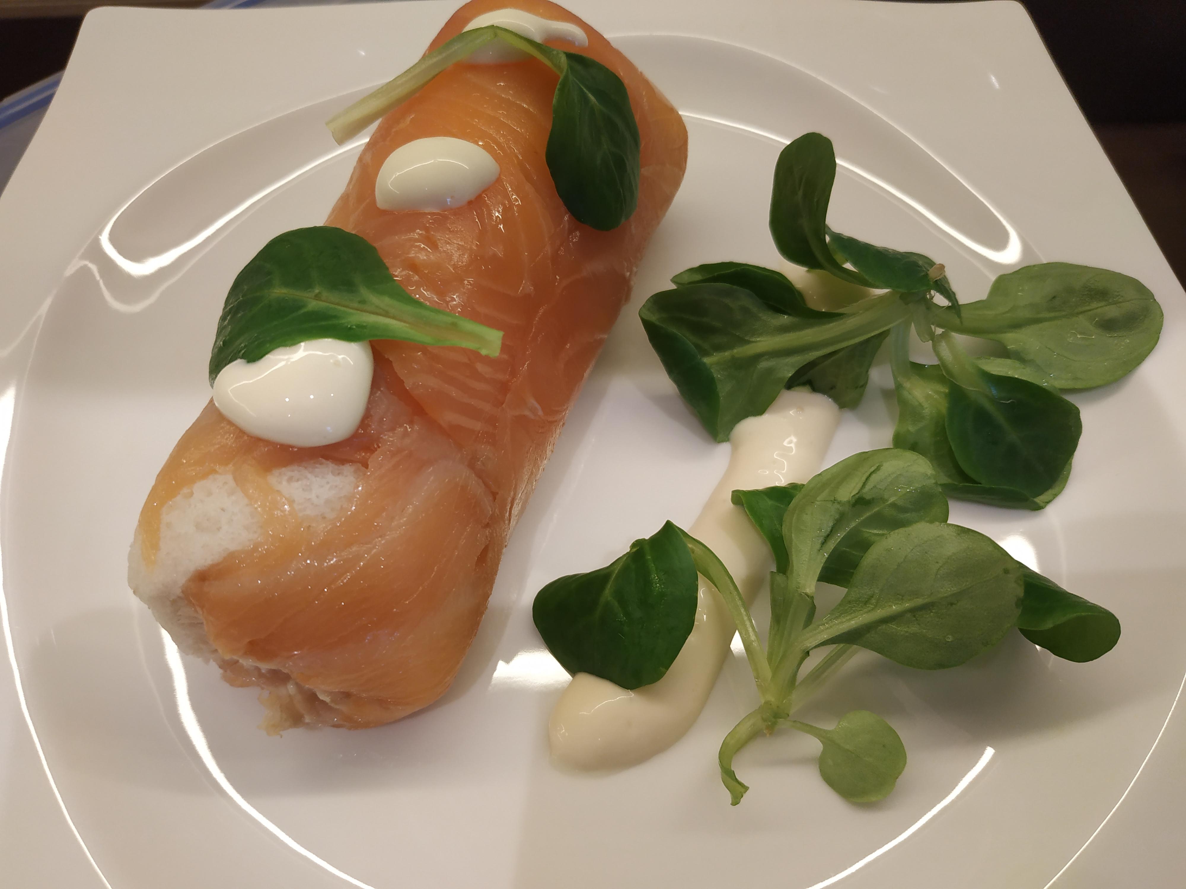 rollito salmón